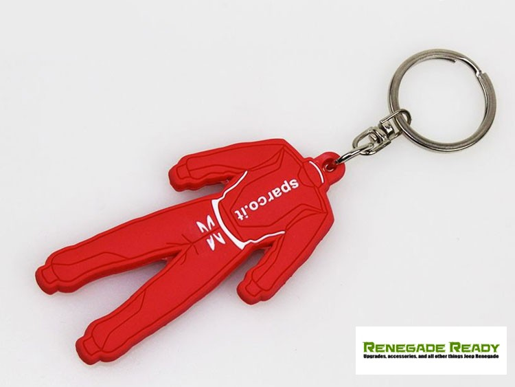 Keychain - Sparco - Red Rubber Racing Suit