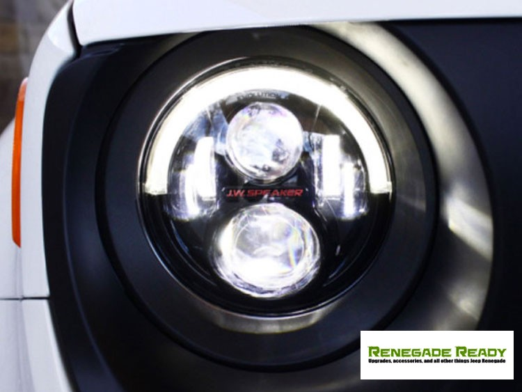 Jeep Renegade Projector Headlights w/ DRL Light Bar - LED - Black