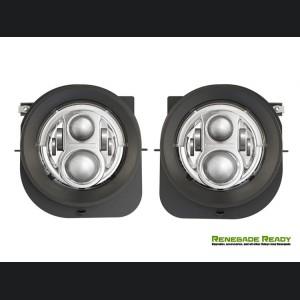 Jeep Renegade Projector Headlights w/ DRL Light Bar - LED - Chrome