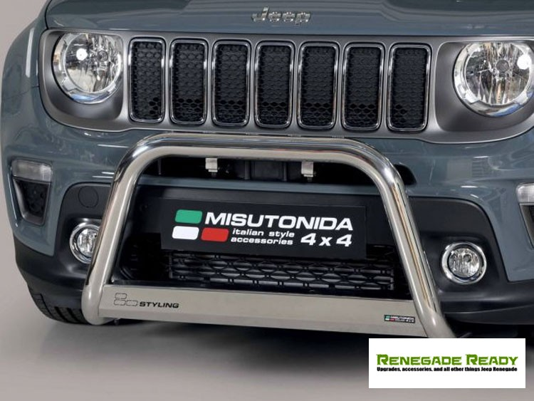 Jeep Renegade Front Bumper Guard - Misutonida - Medium - Sport/ Lattitude/ Limited - 2018+ Models - Chrome