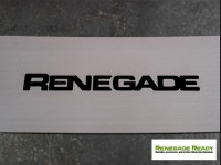 Jeep Renegade Rear Bumper Sill Cover - Polished Stainless Steel with Renegade Logo