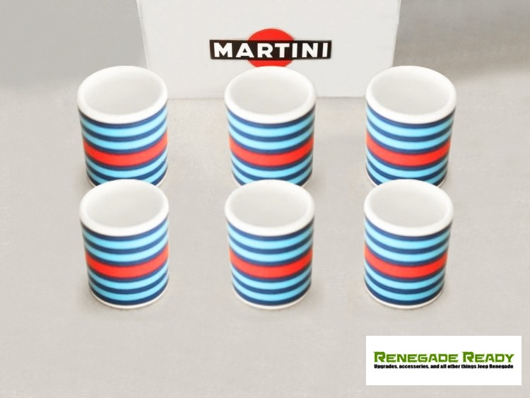 MARTINI Racing Cup Set (6) - MARTINI Racing Stripes