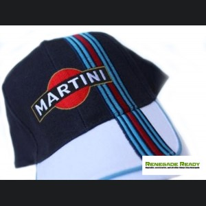 Martini Racing Hat - Navy Blue/ White w/ Racing Stripe