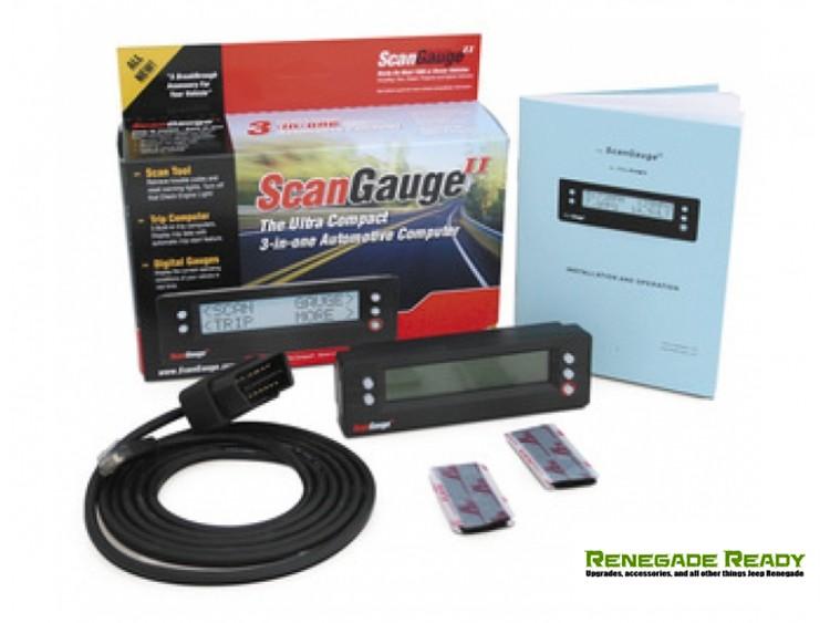 ScanGauge II 3-in-1 Compact Multifunction Vehicle Computer w/ Customizable Display