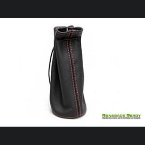 Pochette - Black Leather w/ Red Stitching