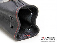Pochette - Black Leather w/ Red Stitching