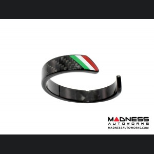 Carbon Fiber Bracelet - Italian Flag Racing Stripe Design