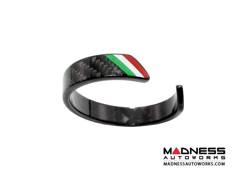 Carbon Fiber Bracelet - Italian Flag Racing Stripe Design