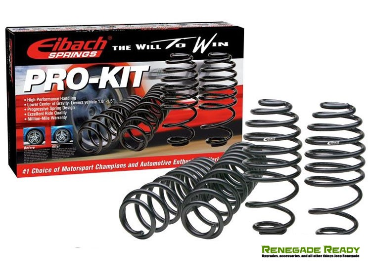 Jeep Renegade Lowering Springs - Eibach - 4WD