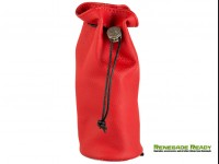 Pochette - Red Leather w/ Red Stitching