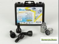 Jeep Renegade Wheel Locks - Farad - Black - Starlock
