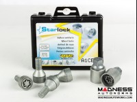 Jeep Renegade Lug Bolt + Lock Set - Farad - Set of 20 - M12x1.25 - 60° Cone Seat - Silver