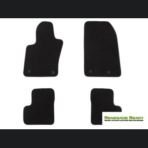Jeep Renegade Floor Mats - Deluxe Black Carpet