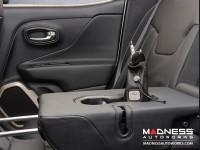 Jeep Renegade Pochette - Black Leather w/ Red Stitching + Black Logo