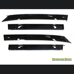 Jeep Renegade Side Window Air Deflectors - Front + Rear Set - Mopar