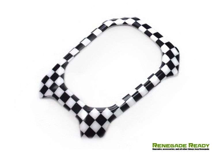 Jeep Renegade Shift Bezel Trim Piece - Checkered Pattern