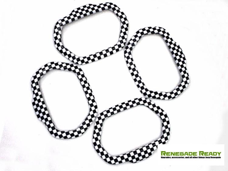 Jeep Renegade Speaker Trim Kit - Checkered Pattern