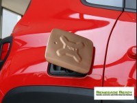Jeep Renegade Fuel Door Cover - Gold