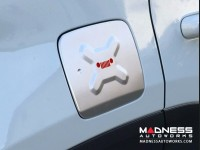 Jeep Renegade Fuel Door Cover - Silver & Red