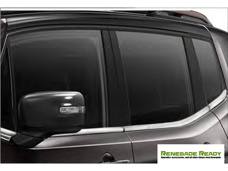 Jeep Renegade Window Trim Cover Kit - 6 piece - Stainless Steel
