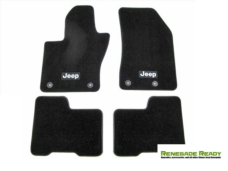Jeep Renegade Floor Mats - Black Carpet