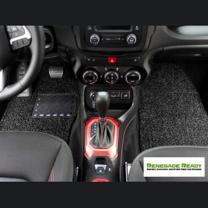 Jeep Renegade All Weather Floor Mats - Custom Rubber Woven Carpet - Black