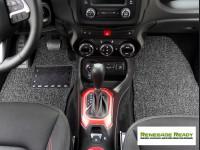 Jeep Renegade All Weather Floor Mats - Custom Rubber Woven Carpet - Black + Grey