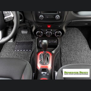 Jeep Renegade All Weather Floor Mats - Custom Rubber Woven Carpet - Black + Grey
