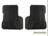 Jeep Renegade All Weather Floor Mats + Cargo Mat - Custom Rubber Woven Carpet - Red + Black