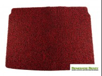 Jeep Renegade All Weather Cargo Mat - Custom Rubber Woven Carpet - Red and Black
