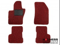 Jeep Renegade All Weather Floor Mats - Custom Rubber Woven Carpet - Red + Black