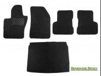 Jeep Renegade All Weather Floor Mats + Cargo Mat - Custom Rubber Woven Carpet - Black