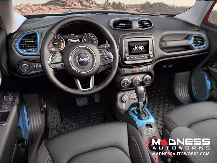 Jeep Renegade Interior Trim Kit - Blue - Left Hand Drive