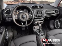 Jeep Renegade Radio Bezel Trim Piece - Checkered Pattern - Uconnect 3.0/ 5.0 Systems