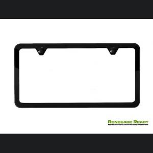 License Plate Frame - Satin Black - Slim Edge