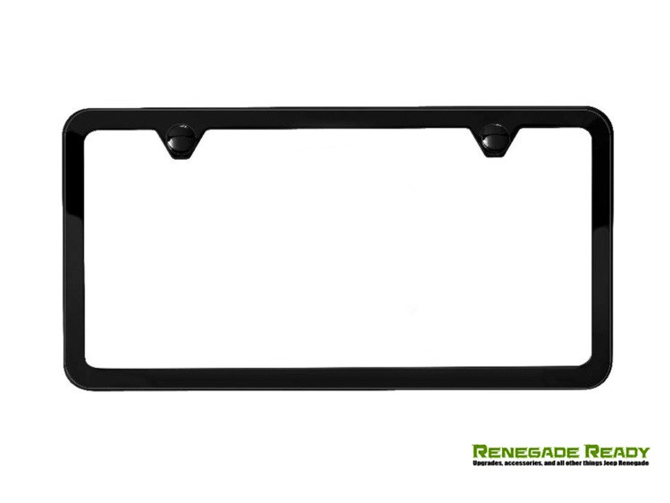 License Plate Frame - Satin Black - Slim Edge