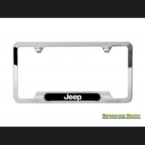 Jeep Renegade License Plate Frame - Polished w/ Jeep Logo