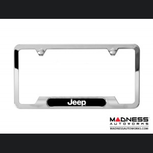 Jeep Renegade License Plate Frame - Polished w/ Jeep Logo