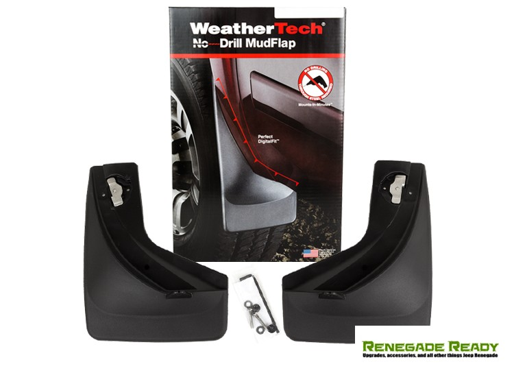 Jeep Renegade Mud Flaps - WeatherTech - Front