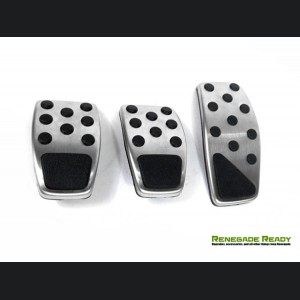 Jeep Renegade Pedal Set - Chrome - Manual Transmission
