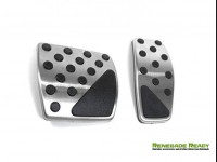 Jeep Renegade Pedal Set - Chrome - Automatic Transmission