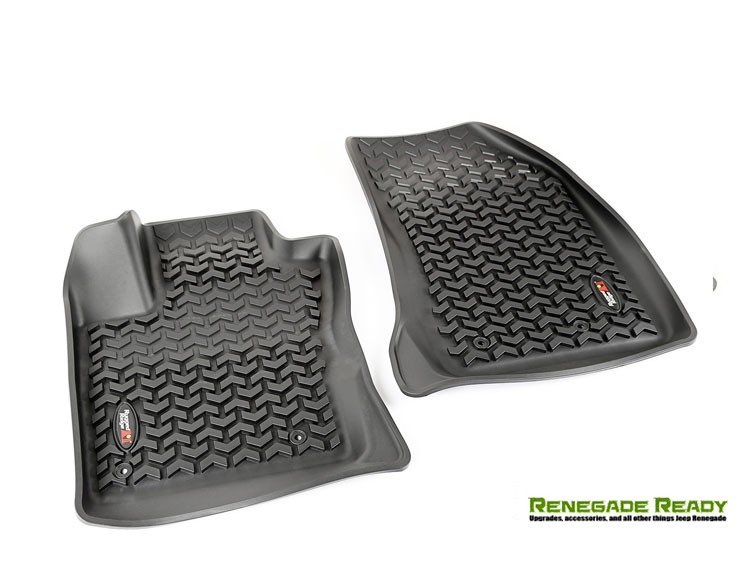 Jeep Renegade Floor Liners - All Weather - Rugged Ridge - Front Only