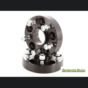 "Jeep Renegade Wheel Spacers by Rugged Ridge - 1.25"" - Black"
