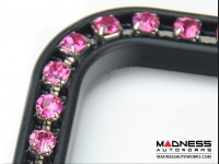 License Plate Frame - Black Frame w/ Pink Crystals