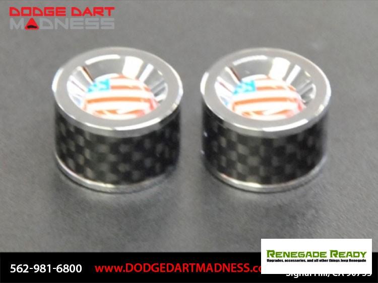 License Plate Bolts - Carbon Fiber w/ American Flag