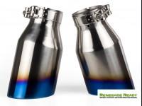 "Custom Exhaust Tips - Blue Flame Tip -  2.5"" ID"