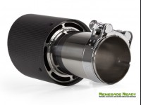 """Custom Carbon Fiber Exhaust Tips - Carbon Fiber -  2.5"""" ID"""