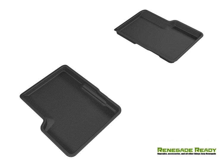 Jeep Renegade Floor Mats - 3D MAXpider - Rear - Black