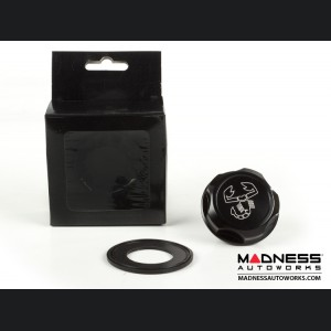 Jeep Renegade Oil Cap - 1.4L Turbo - Scorpion Logo - Black Anodized Billet