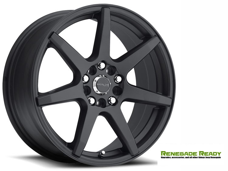 "Jeep Renegade Custom Wheels - Raceline - 131 - 16""x7"" - EVO Black"